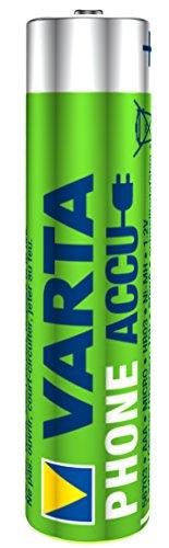 Varta Phone Accu AAA Micro Ni-Mh Akku  (2-er Pack, 800 mAh, geeignet für schnurlose Telefone) - 2