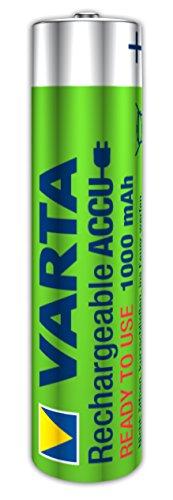 Varta Ready2Use wiederaufladbarer Micro Ni-Mh Akku (AAA, 1000mAh, 4-er Pack) inklusive Aufbewahrungsbox - 2