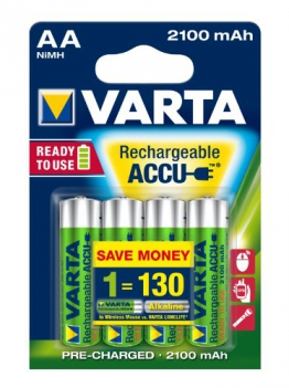 Varta Rechargeable Accu Ready2Use AA Mignon Ni-Mh Akku (4-er Pack. 2100 mAh) - 1